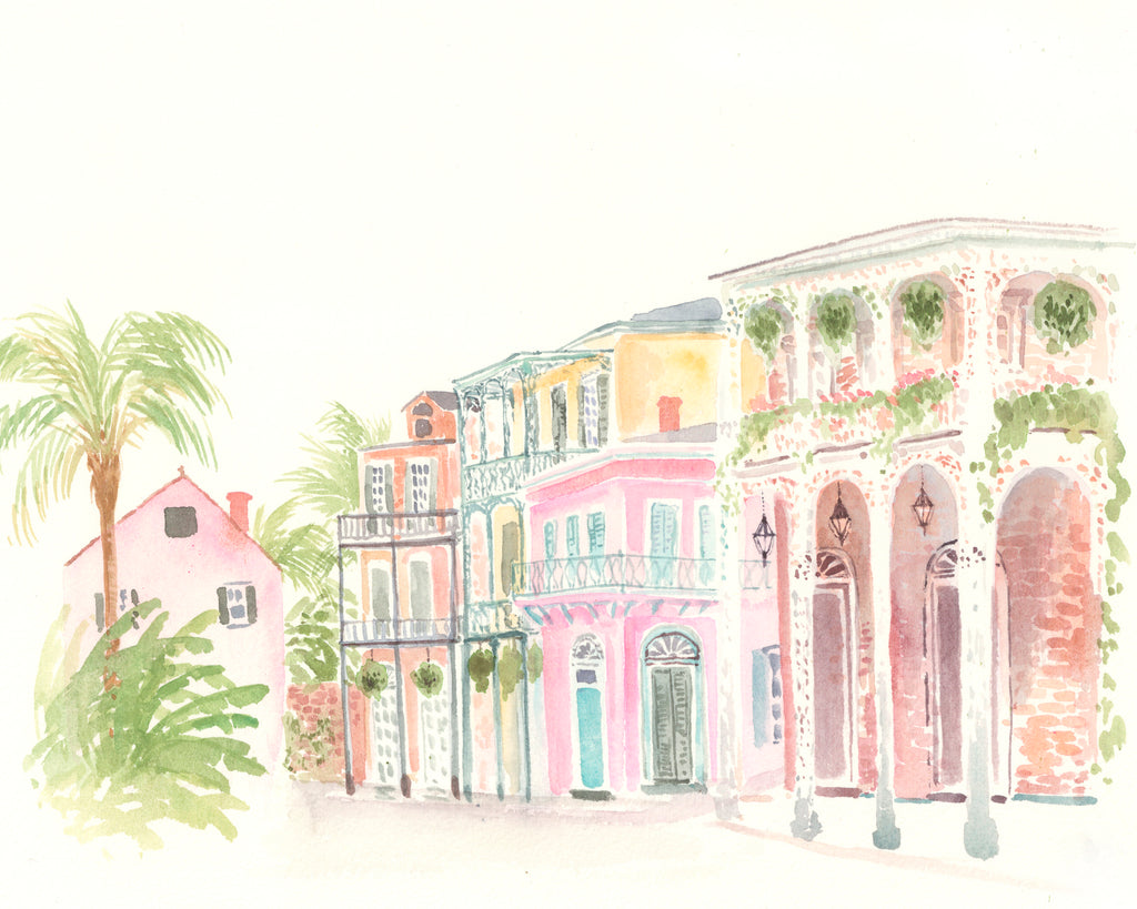 French Quarter original watercolor