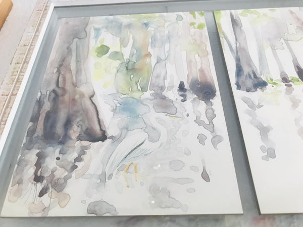 Louisiana Swamp Triptych study
