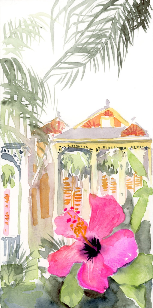 Hibiscus in the Marigny print