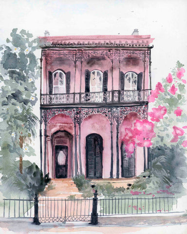 Mauve Mansion print