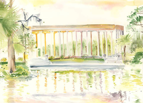 Peristyle watercolor print