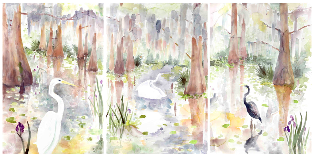 Louisiana Swamp Triptych VII