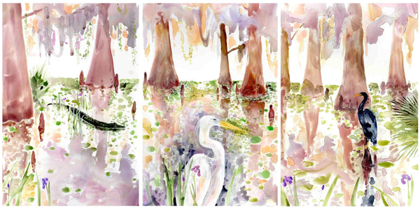 Louisiana Swamp Triptych VIII prints