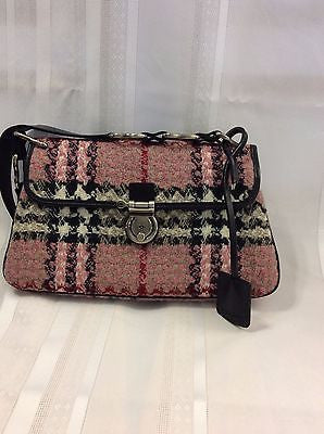 Burberry Nova Check Tweed Shoulder Handbag