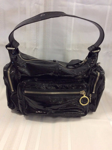 Chloe Black Patent Leather Shoulder Handbag