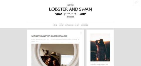 Lobster and Swan Web Page