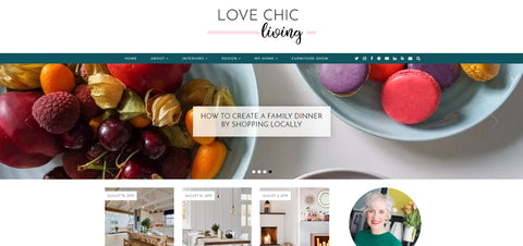 Love Chic Living Web Page