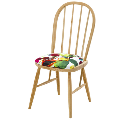 Alice  Italian Dining Chair Upholstered in Soft Pantigre in Papaye By the House of Lacroix