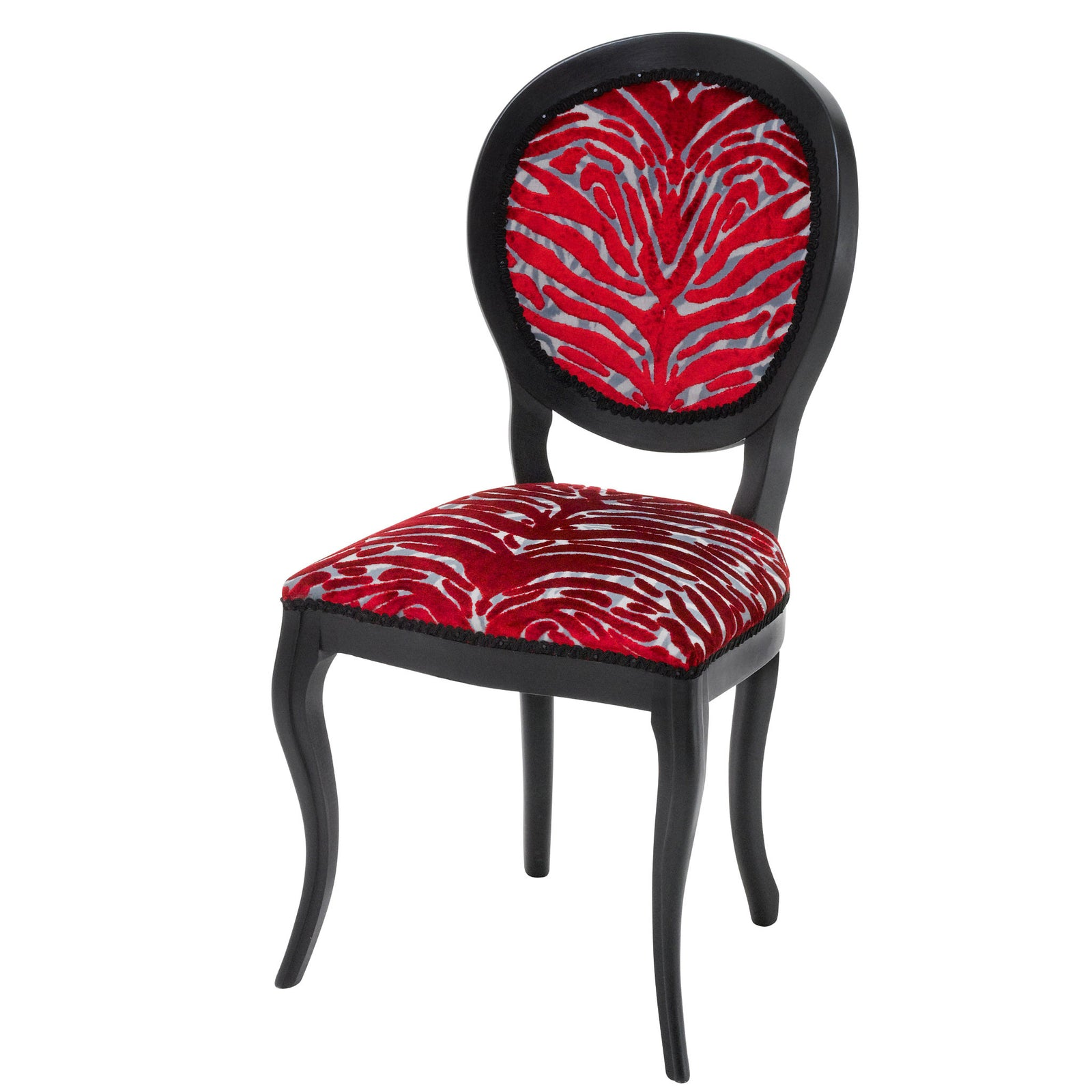 Designer Chair Upholstered in Soft Pantigre in Papaye by Christian Lacroix