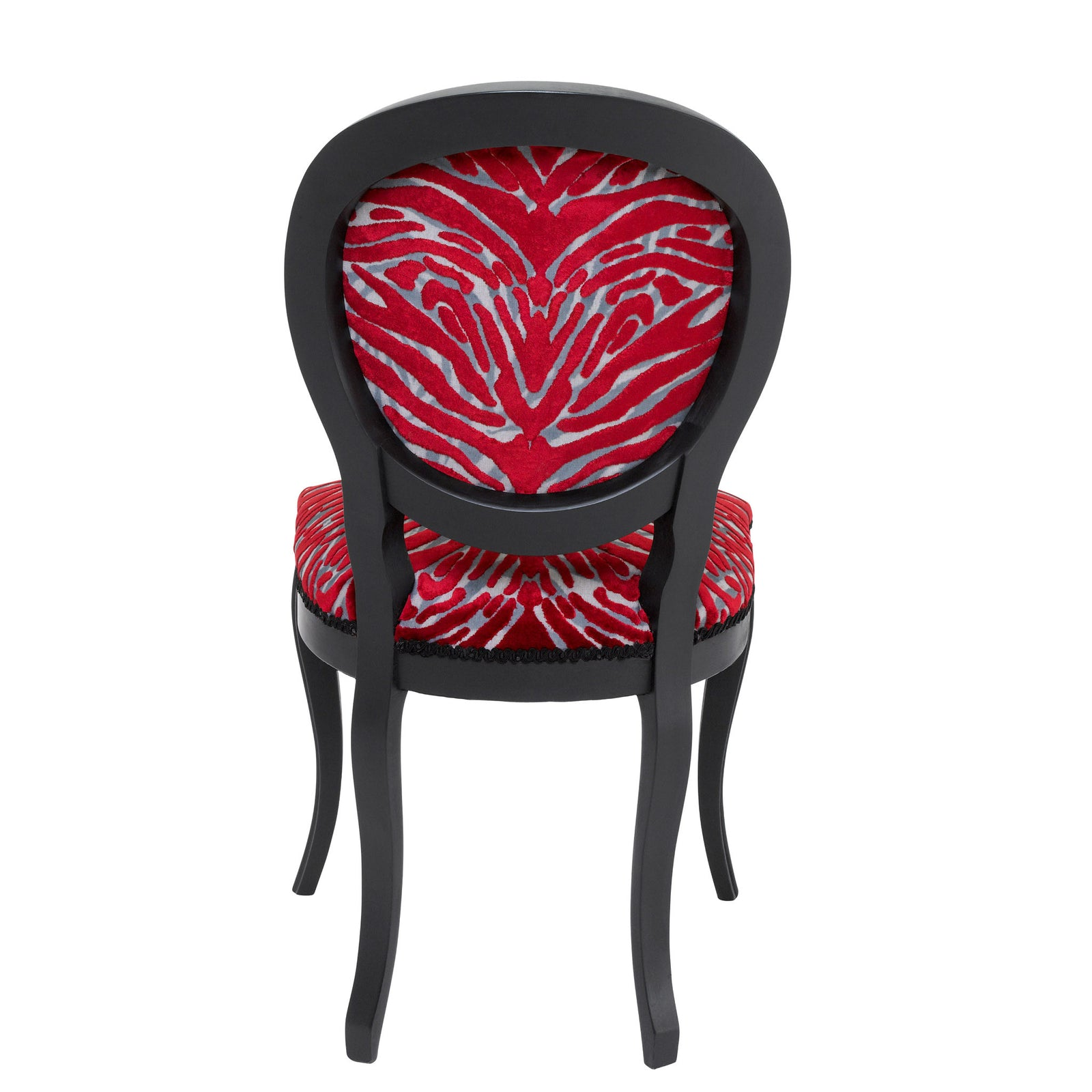 Scarlett Boudoir Chair Upholstered in  Soft Pantigre in Papaye from Christian Lacroix