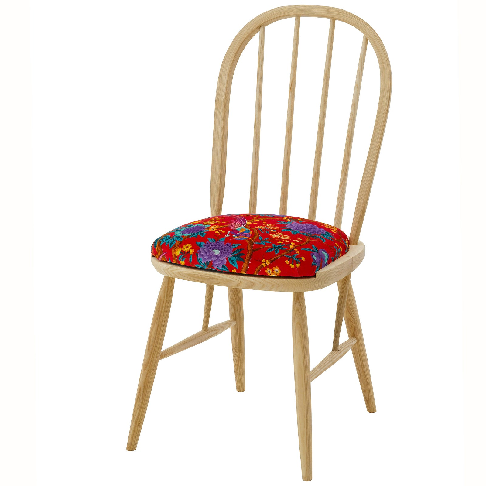 The Elkin Dining Chair Upholstered in  Elysian Paradise by Liberty of London