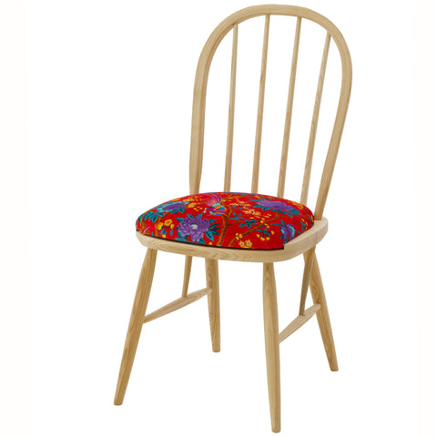 The Elkin Dining Chair Upholstered in Liberty London Fruit Billett Vintage Velvet