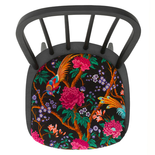 The Liberty Edit: Arden Dining Chair upholstered in Elysian Paradise in Black
