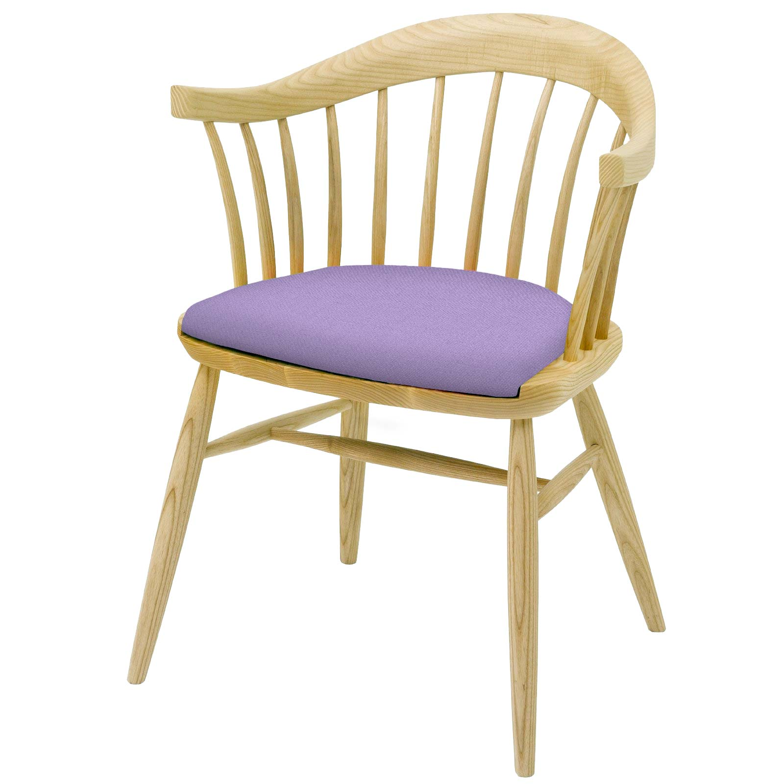 Hand crafted  Chair in solid English Ash Upholstered in your chosen colourway