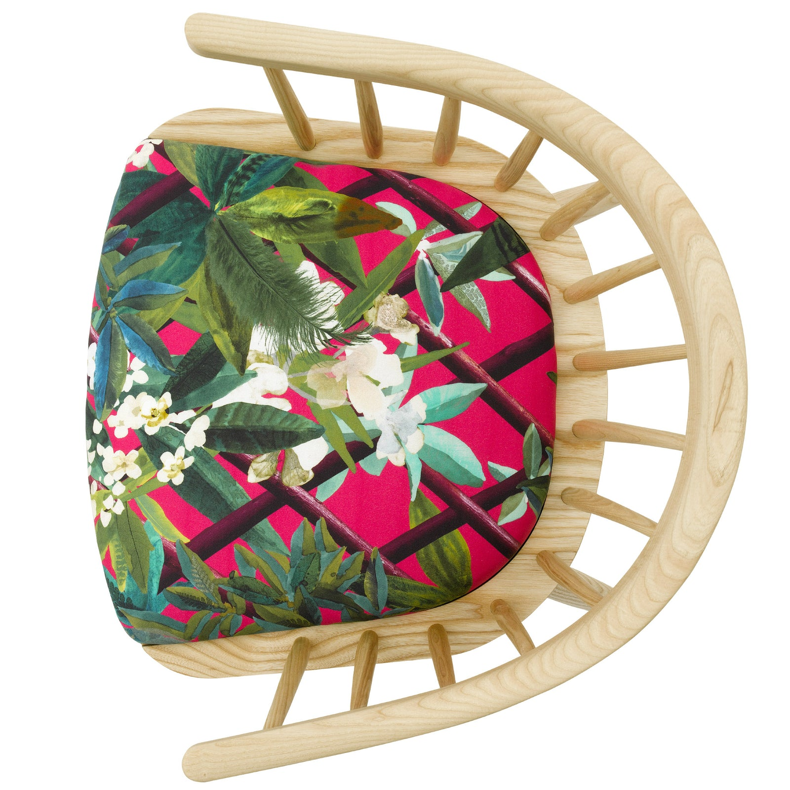 The HandmadeDarwin Armchair Upholstered in Canopy by Christian Lacroix