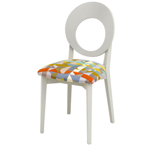 Chloe Dining  Chair in the gorgeous Kyoto Koi Aqua from Korla