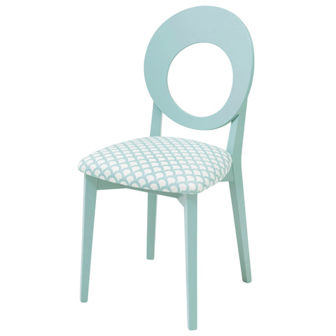 Chloe Dining Chair in the captivating Niyali in Teal and Saffron from Sanderson