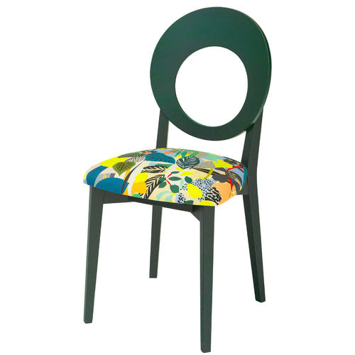 Chloe Contemporary Chair in the beautiful Hockney from Kitty Mccall Finished in Deep Green