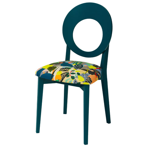 Chloe Contemporary Occasion Chair Upholstered in NeoGeo by Jon Burgerman