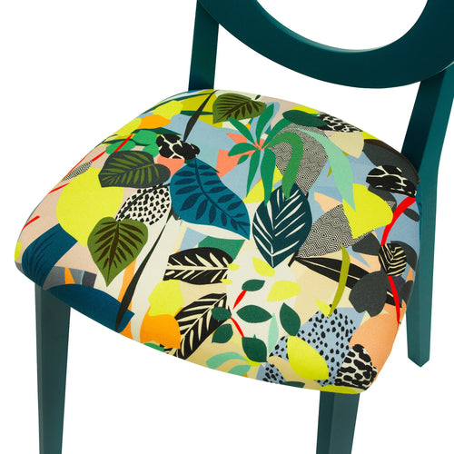 Chloe Contemporary Chair in the beautiful Hockney from Kitty Mccall Finished in Teal