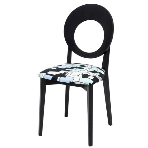 Daisy contemporary Kitchen Chair Upholstered in Green Doodles by Jon Burgerman