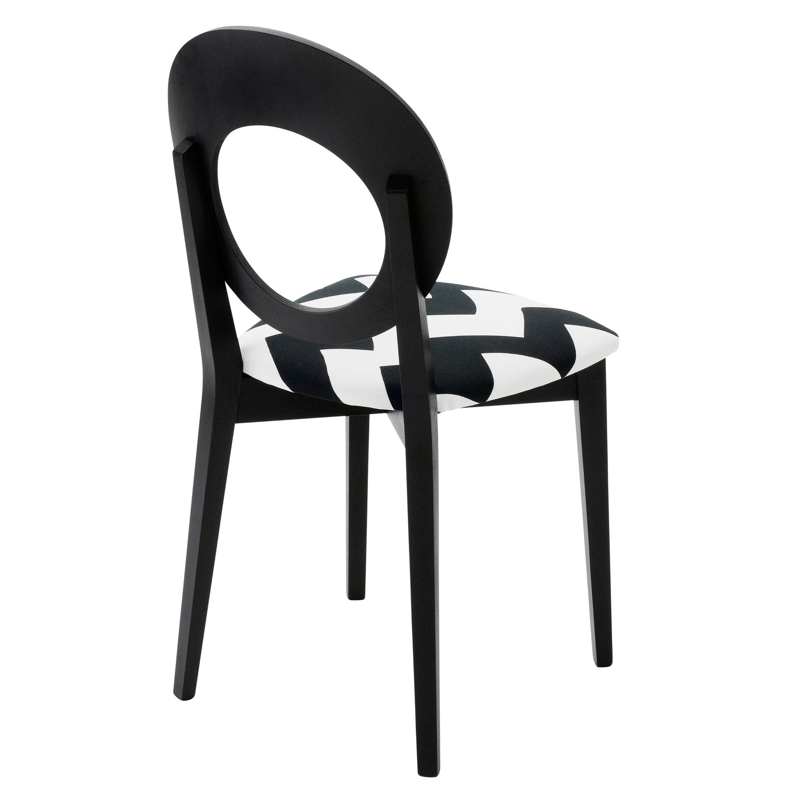 Chloe Contemporary Occasion Chair Upholstered in Tizzy Peaks By Jon Burgerman