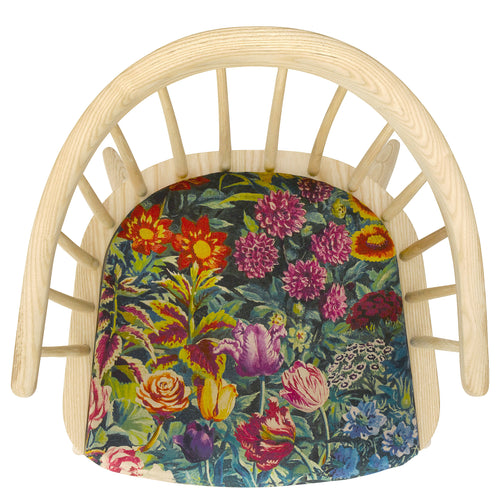 The Darwin Armchair in Gail's Garden Vintage Velvet by Liberty London