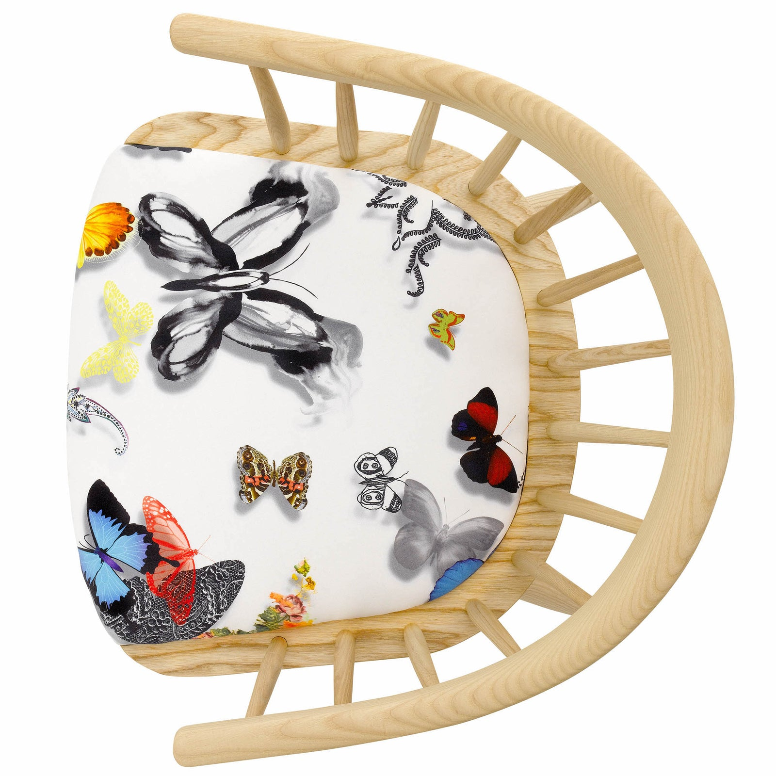 The Stunning Darwin Armchair Upholstered in Butterfly Parade by Christian Lacroix
