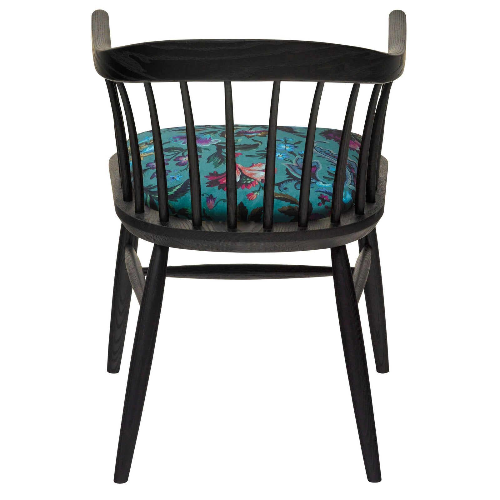 The Darwin Armchair Upholstered in House of Hackney Florika British Velvet with A Black Finish