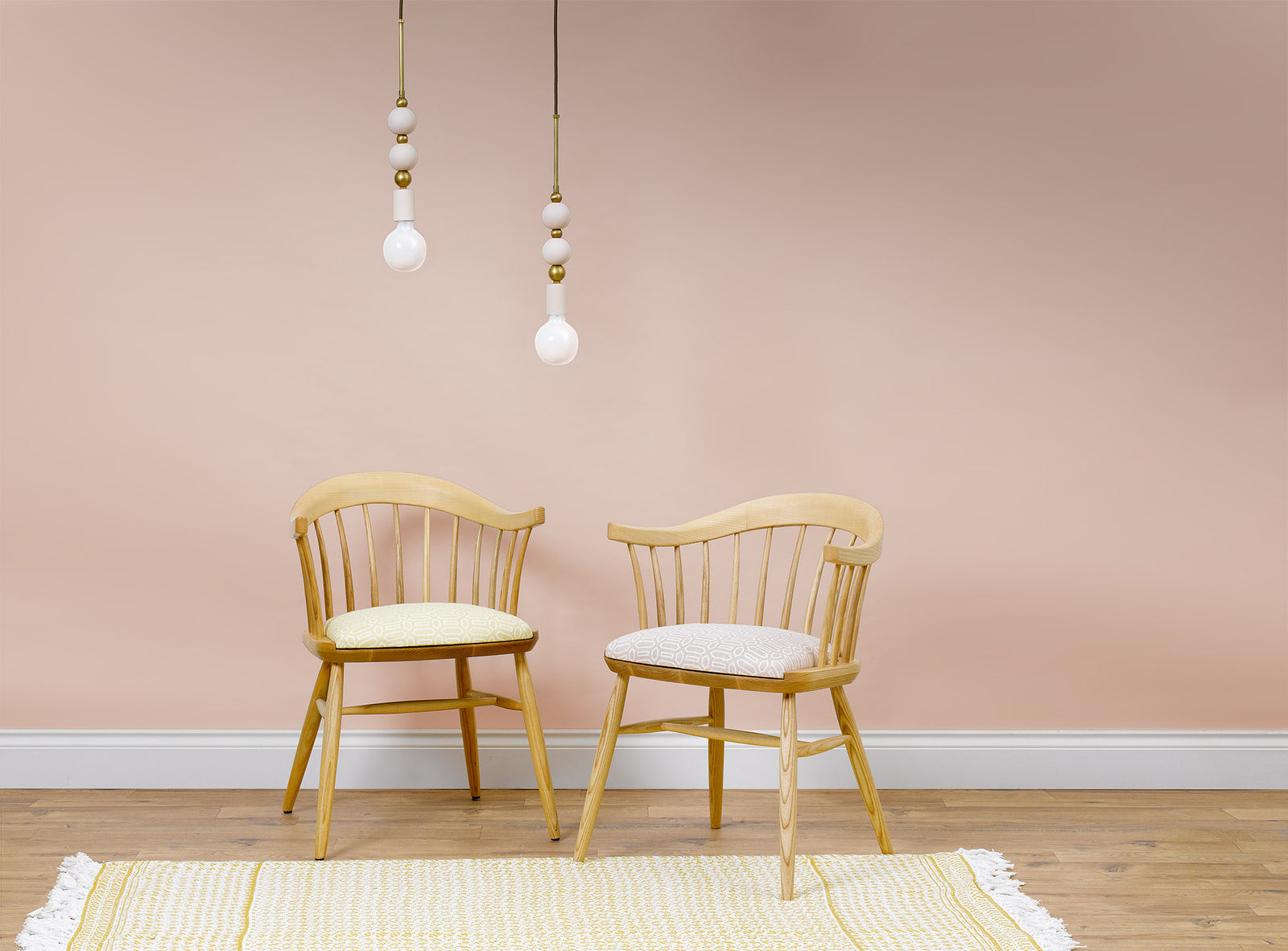 The Darwin Armchair Upholstered in Pavillion in Pink by Veere Grenney