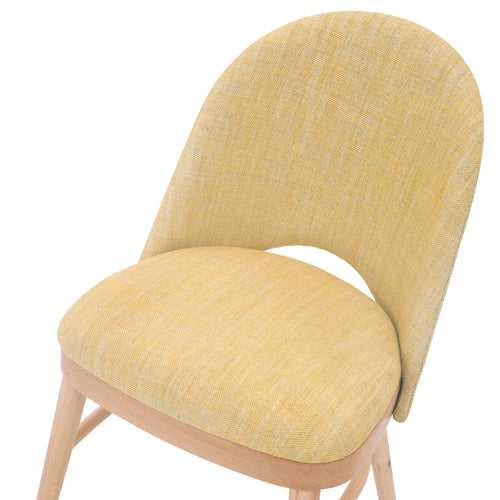 Stylish Ella Chair in the Luxury Textured Linen Old Guilding from Fermoie