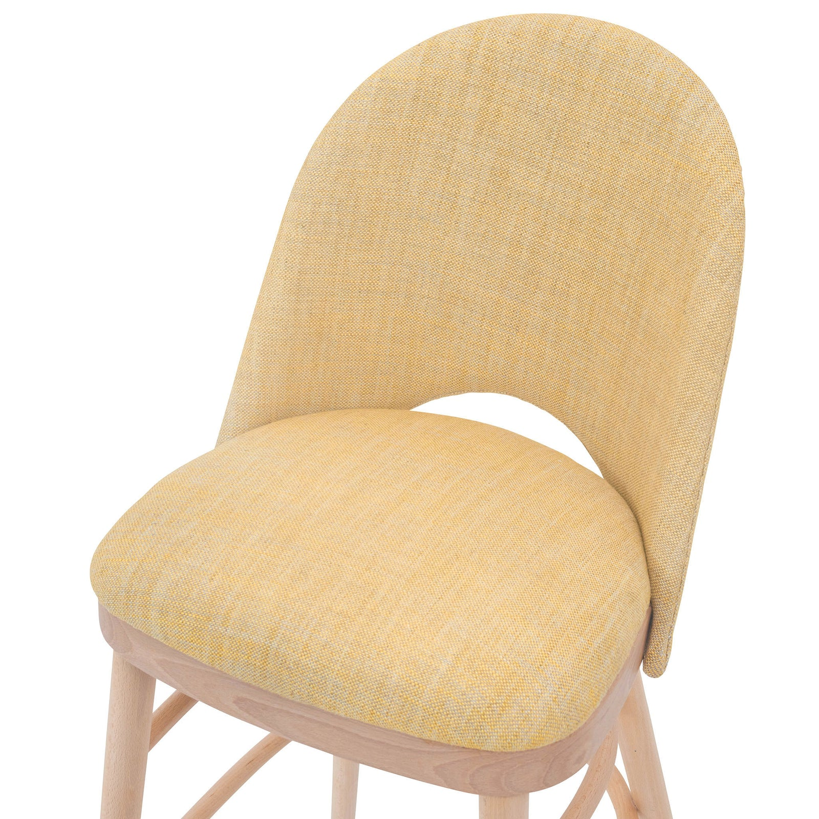 Stylish Ella Bar Stool in the Textured Linen Old Guilding from Fermoie