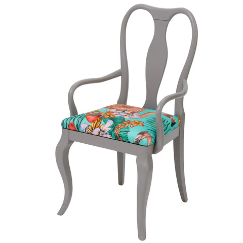 Alice Contemporary Italian Dining Chair in Purple Butterfly Parade By Christian Lacroix