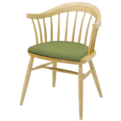 Hand crafted Contemporary Chair in solid English Ash Upholstered in your chosen colourway