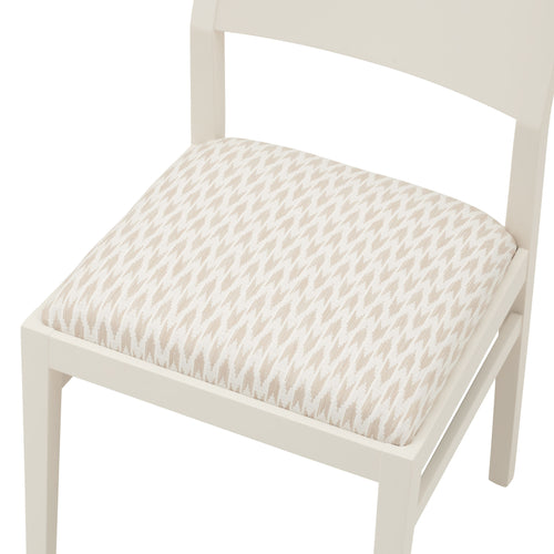 The Stylish James Chair in the striking Hutton Weave from Sanderson