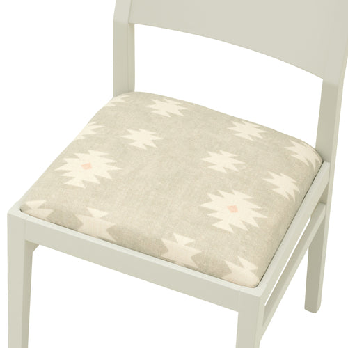 The  Contemporary James Chair in the lovely Kilim from Peony & Sage