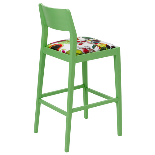 James Designer Bar Stool in the exotic Manaos Perroquet from the House of Lacroix