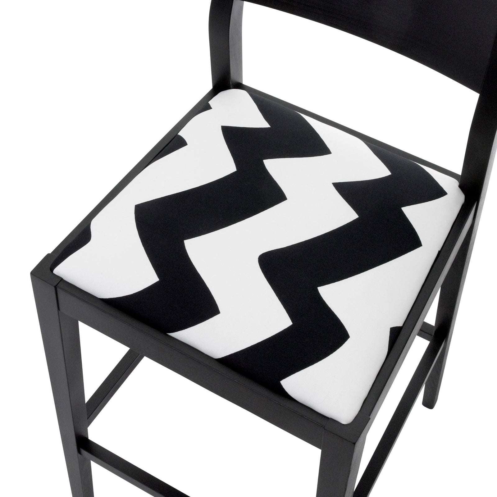 James Luxury Bar Stool upholstered in the inspiring Tizzy Peaks by Jon Burgerman