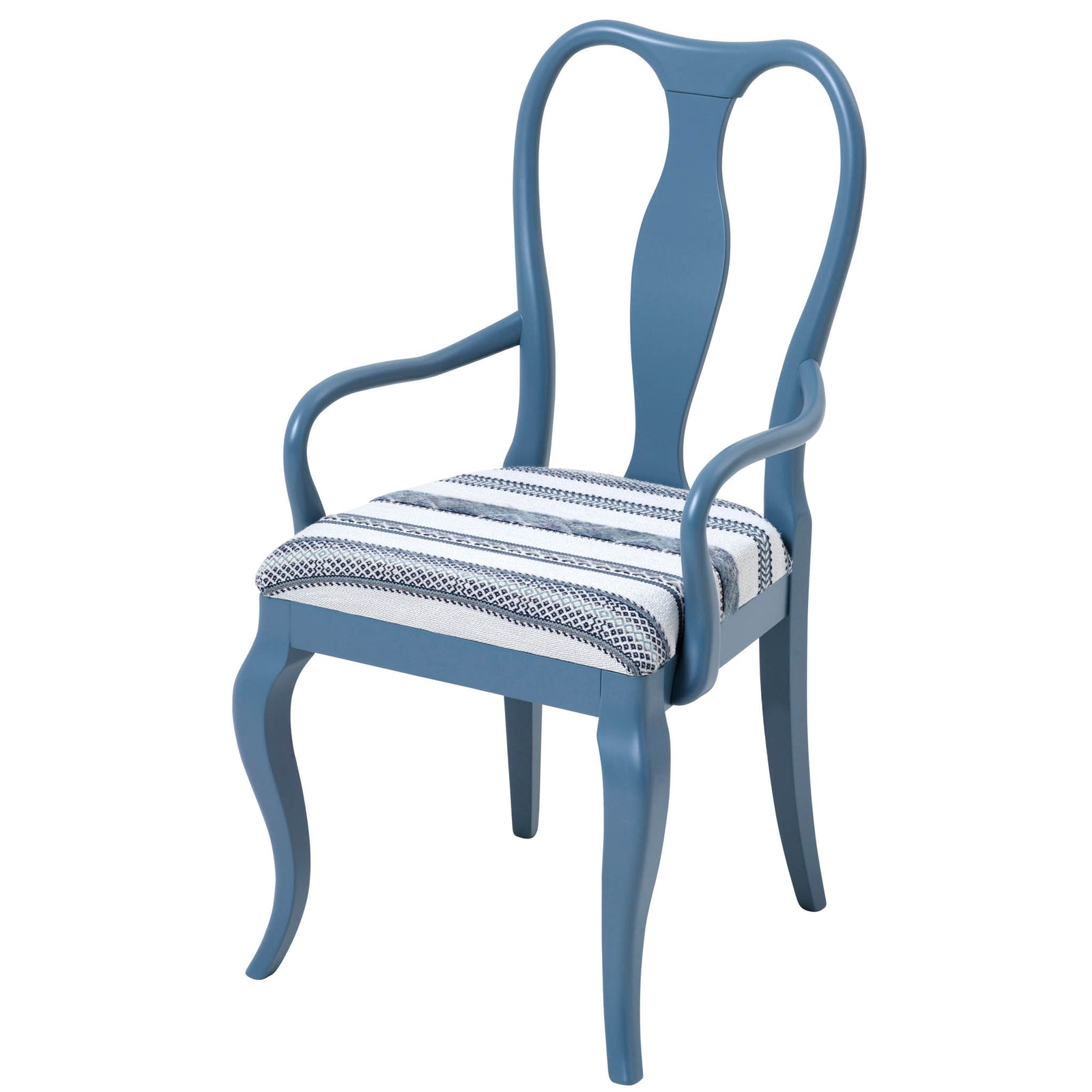 The Marco Chair Upholstered in the stunning Woven Ribbon by Kit Kemp