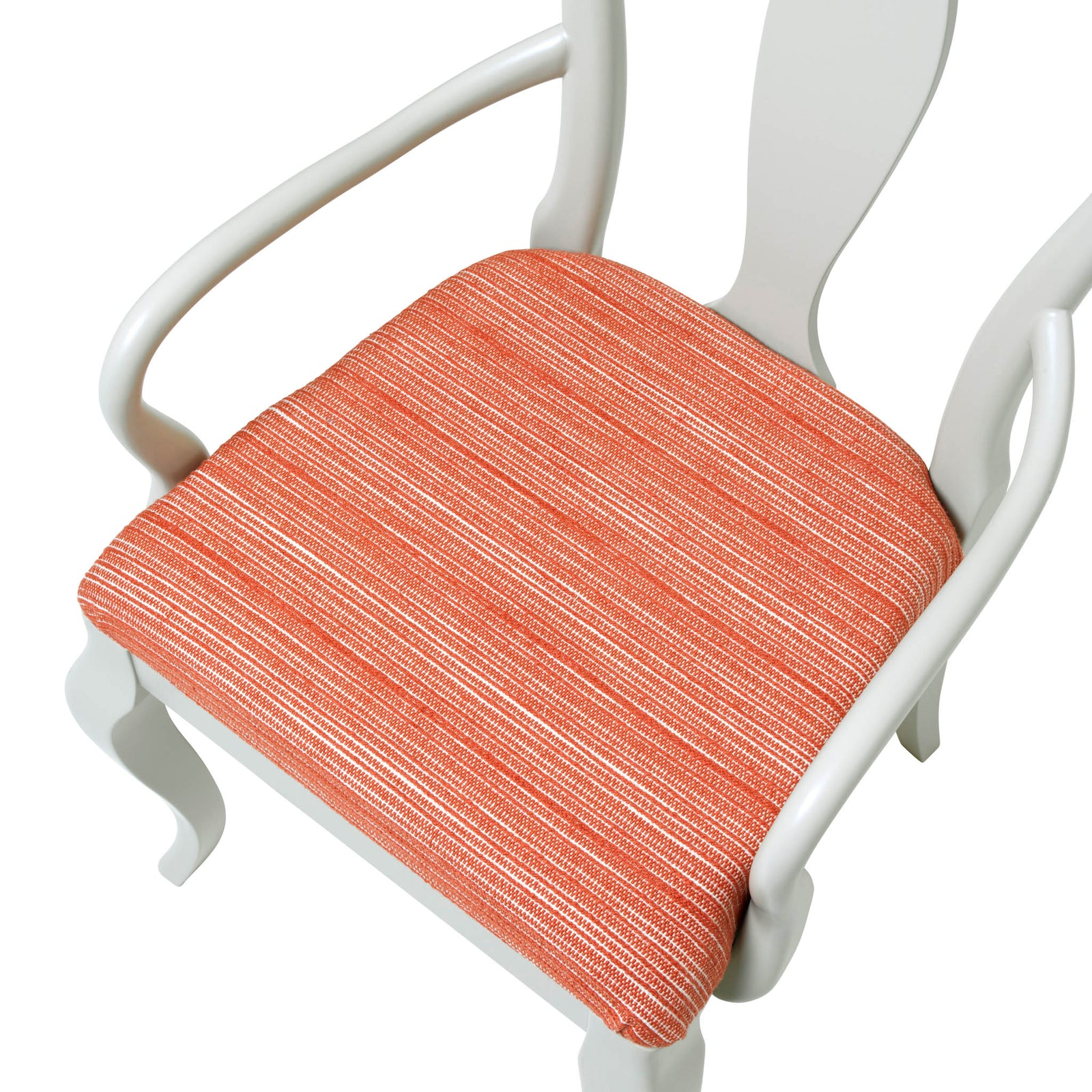 The Marco Chair Upholstered in the wonderful Hippie in Coral from Christopher Farr Cloth