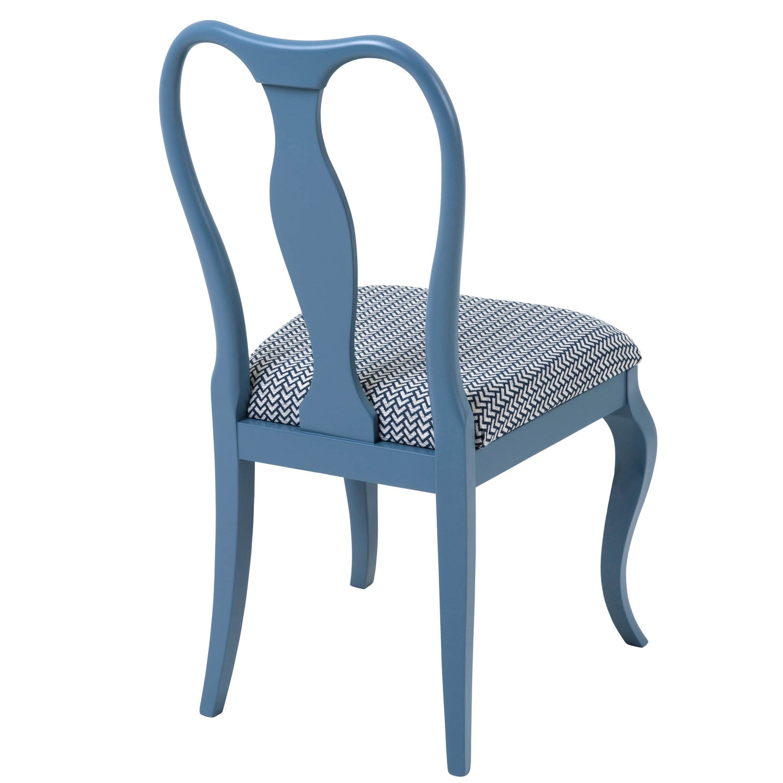 The Marco Side Chair Upholstered in the glorious Sanara Indigo from Harlequin