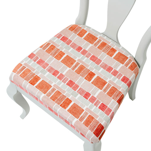 The Marco Side Chair Upholstered in the colourful Maranta from Villa Nova