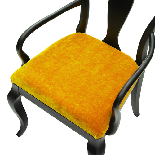 Art Deco style chairs upholstered in sumptuous gold velvet