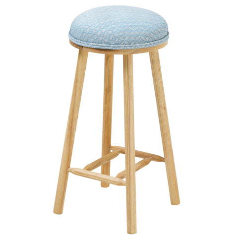 The Turner Counter Stool Upholstered in Lisbon Delft from Designers Guild