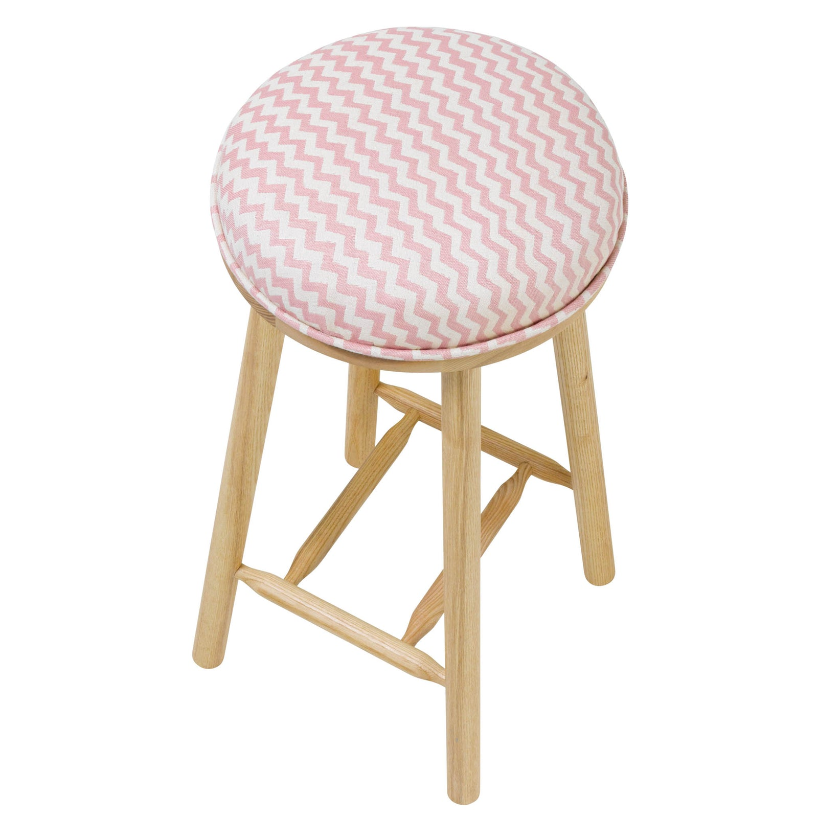 The Turner Counter Stool Upholstered in Climbing Chevy from Tori Murphy