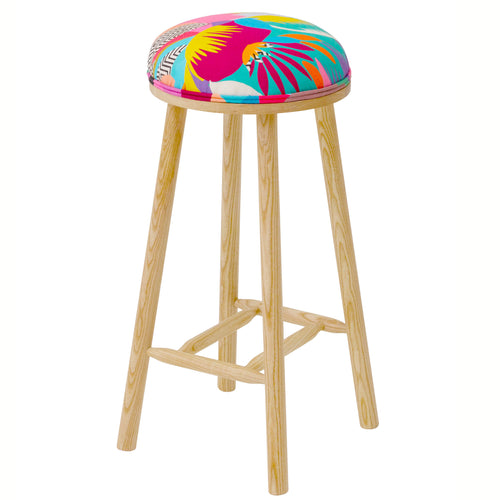 The Turner Counter Stool Upholstered in Tropicalia from Kitty Mccall
