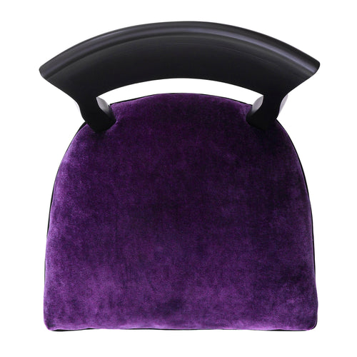 Kate in Luxurious Deep Aubergine Crushed Velvet
