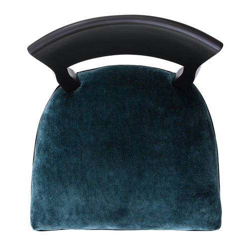 Mid-century Modern Kate Upholstered in Luxurious Teal Crushed Velvet
