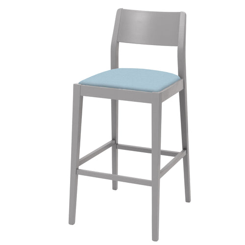 James Shaker Style Bar Stool painted in your choice of colour with 17 versatile seat fabrics to choose from.