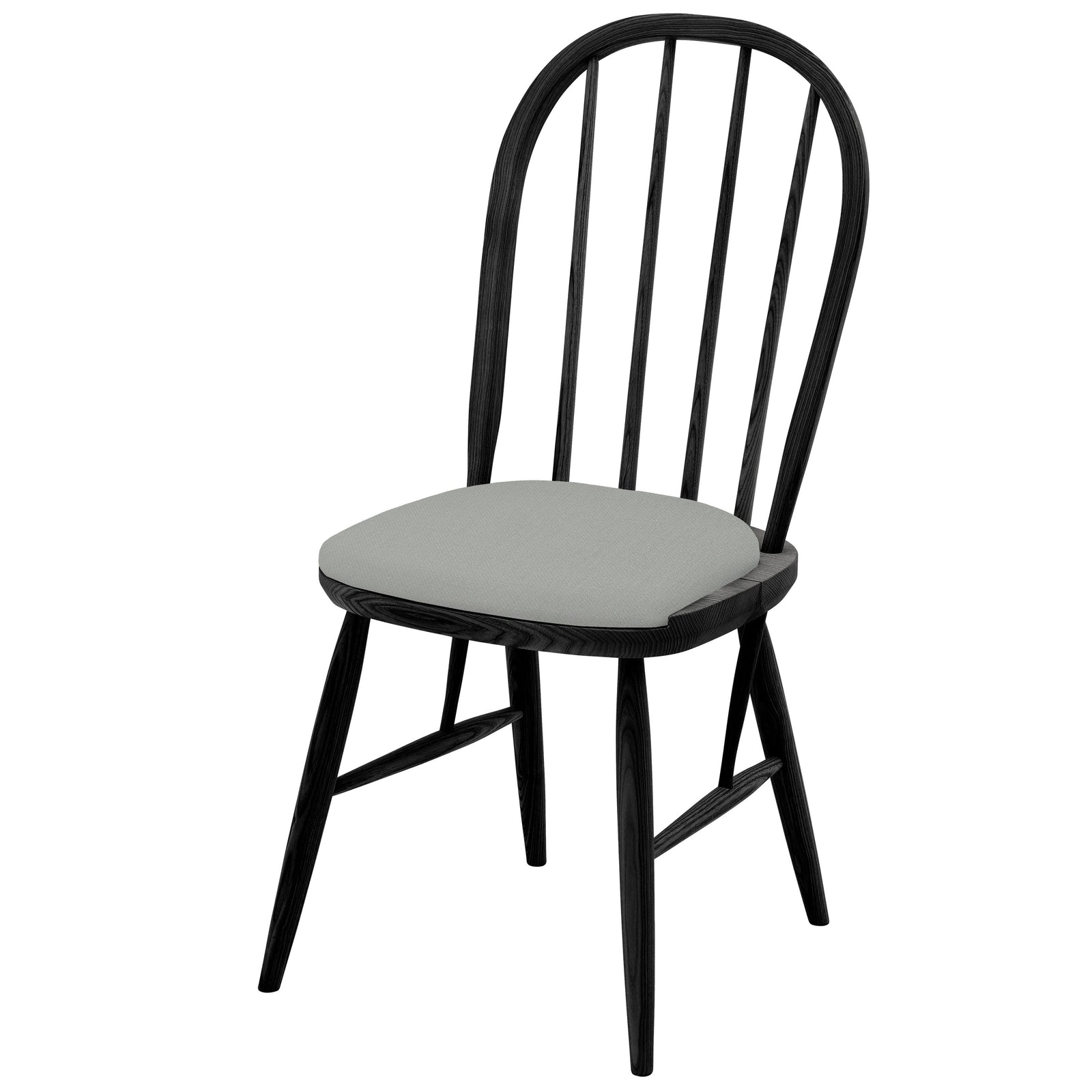 Hand crafted Contemporary Black Chair in solid English Ash Upholstered in your chosen colourway